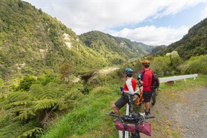 Cyclists in the Whanganui district