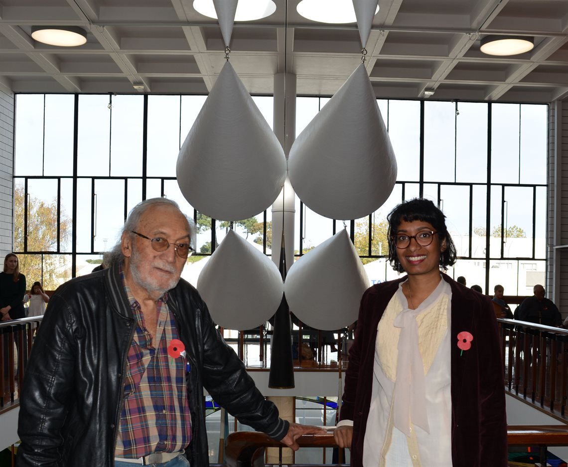 Matt Pine with Anique Jayasinghe, Community Arts Coordinator at Whanganui & Partners and Chair of the Public Art Steering Group