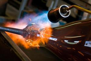 Glass blowing at NZG