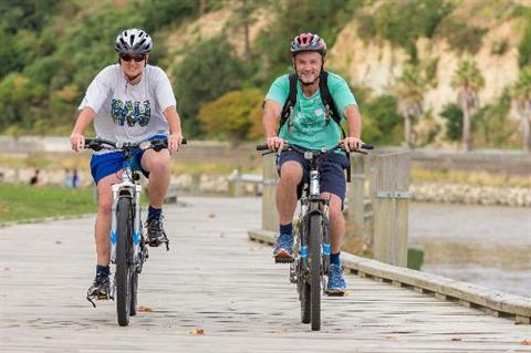 Cyclists near the Whanganui River