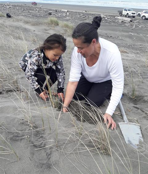 Iwi Accord planting at South Beach